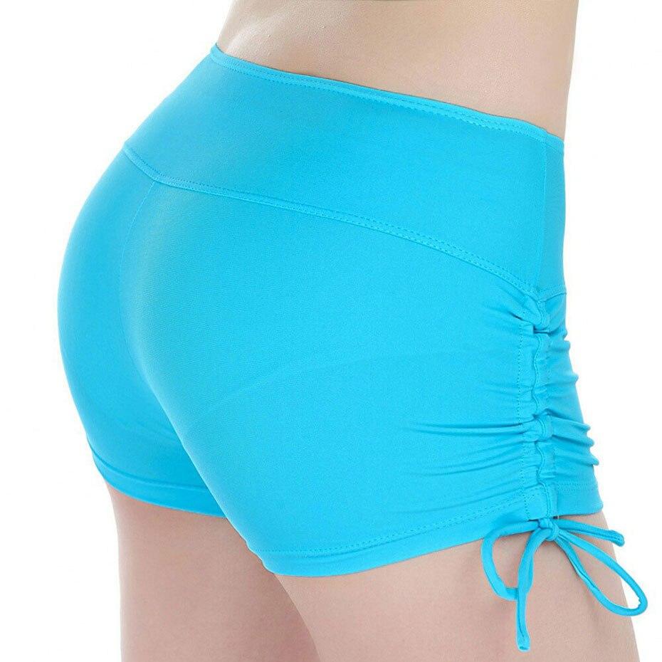 @1  Quick Dry Дышащие Женские Шорты Yoga Спорт Бег Фитнес Drawstring Пляжные Шорты Лето Плавание Случайн ①