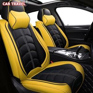 Image 1 - Funda de cuero para asiento de coche delantero y trasero, para hyundai, santa fe, toyota fortuner, lexus is 250, grand starex, ford smax