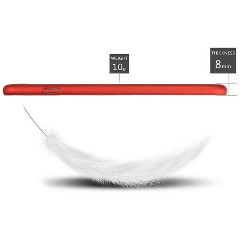 البيانات الجزئية خزائن هاتف آيفون 5S 6 6s 7 8 زائد X XR 11 برو XS ماكس الأزياء الأحمر الصلب ماتي تنفس التبريد الصيف كامل حالة غطاء