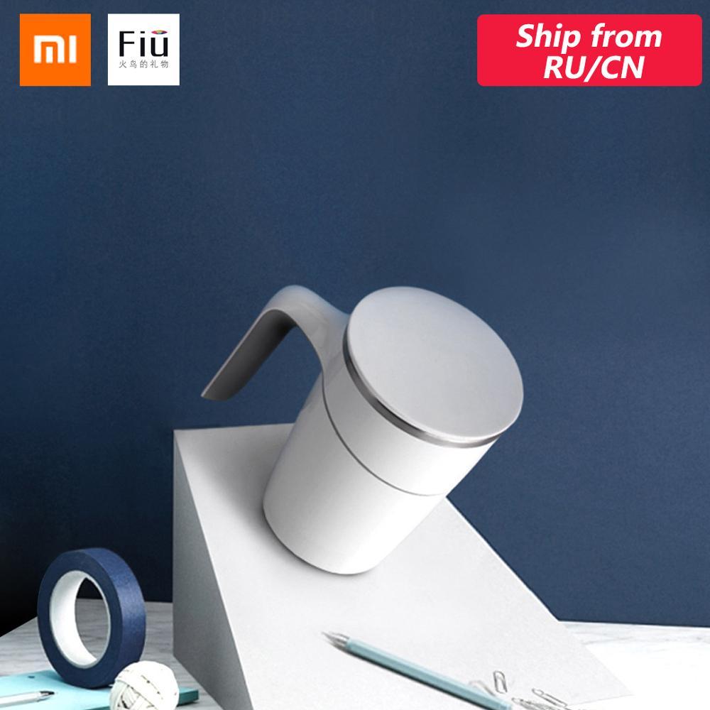 Original Xiao mi mi Fiu pas verser tasse 470ml Innovation magique ventouse résistant aux éclaboussures anti-dérapant ABS Double isolation 304 inoxydable