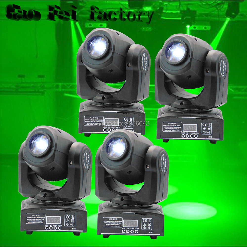4pcs/lot 10W LED Spot Moving Head Light/ dj controller LED lamp Light 10W gobo led moving head lights super bright LED DJ disco 4pcs lot 10w led mini moving head beam light 4 in 1 rgbw led moving head for party lights led dj lights