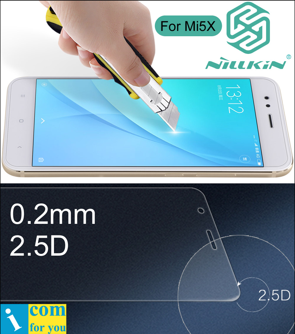 Nillkin Amazing H+ Pro 2.5D Tempered Glass Protective Film For Xiaomi Mi A2 A1 Mi 6X 5X Mi6X Mi5X 0.2mm oleophobic