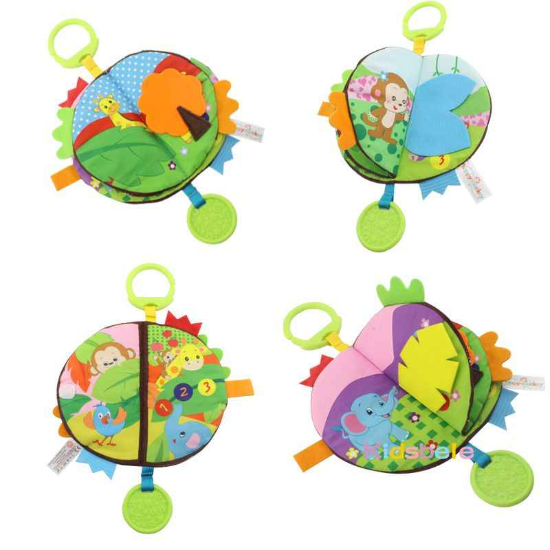 Детские развивающие игрушки, тканевая книга, шуршание, Раскрашивание, раннее обучение, игрушки для детей, игрушки для малышей 0, 12, 24 месяцев, висячая детская игрушка