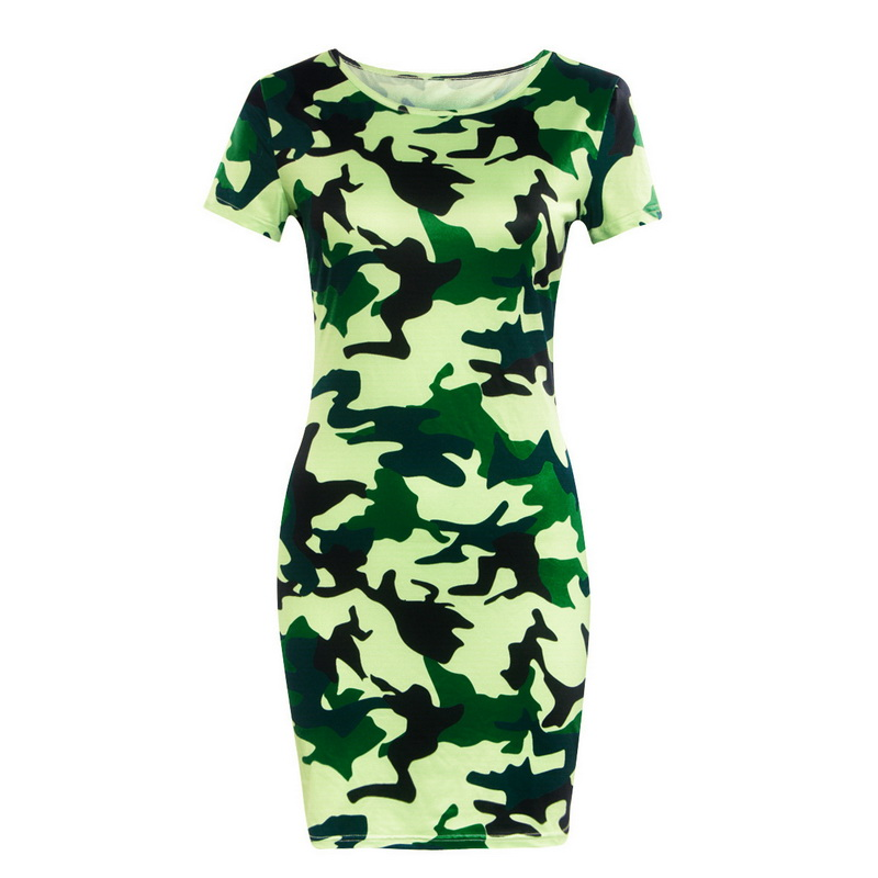 HTB1ETAJbhD1gK0jSZFyq6AiOVXaa Festy Kary New Arrival 2018 Women Dress O Neck Sleeveless Cartoon Print Camouflage Color Elegant Sexy Ladies Dresses