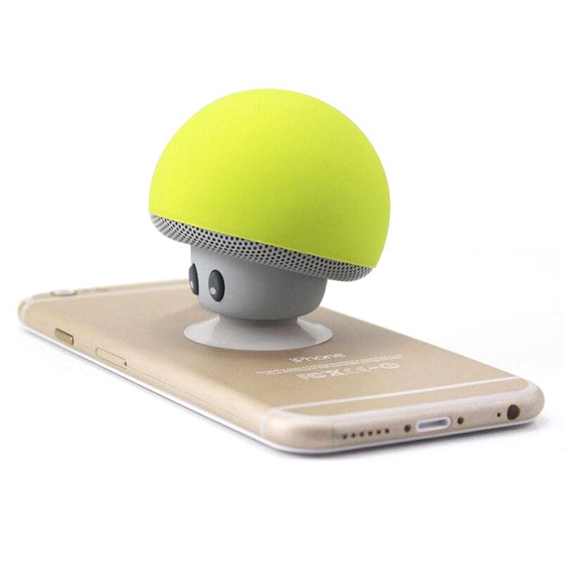 Altoparlante senza fili del Bluetooth Sveglio del Fungo Sucker Impermeabile Bluetooth Mini Speaker Audio Portatile Esterno Staffa per xiaomi ipad