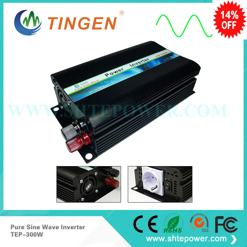 dc ac power inverter 12v to 110v / 120v 300w pure sine wave inverter, solar inverter solar power on grid tie mini 300w inverter with mppt funciton dc 10 8 30v input to ac output no extra shipping fee