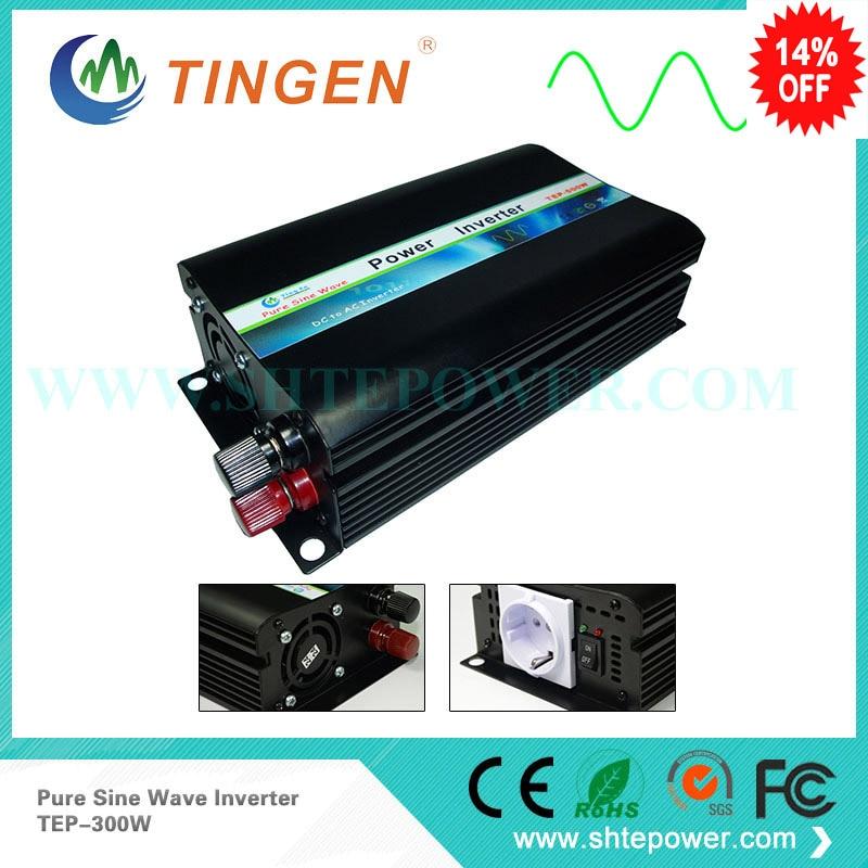 dc ac power inverter 12v to 110v / 120v 300w pure sine wave inverter, solar inverter цены