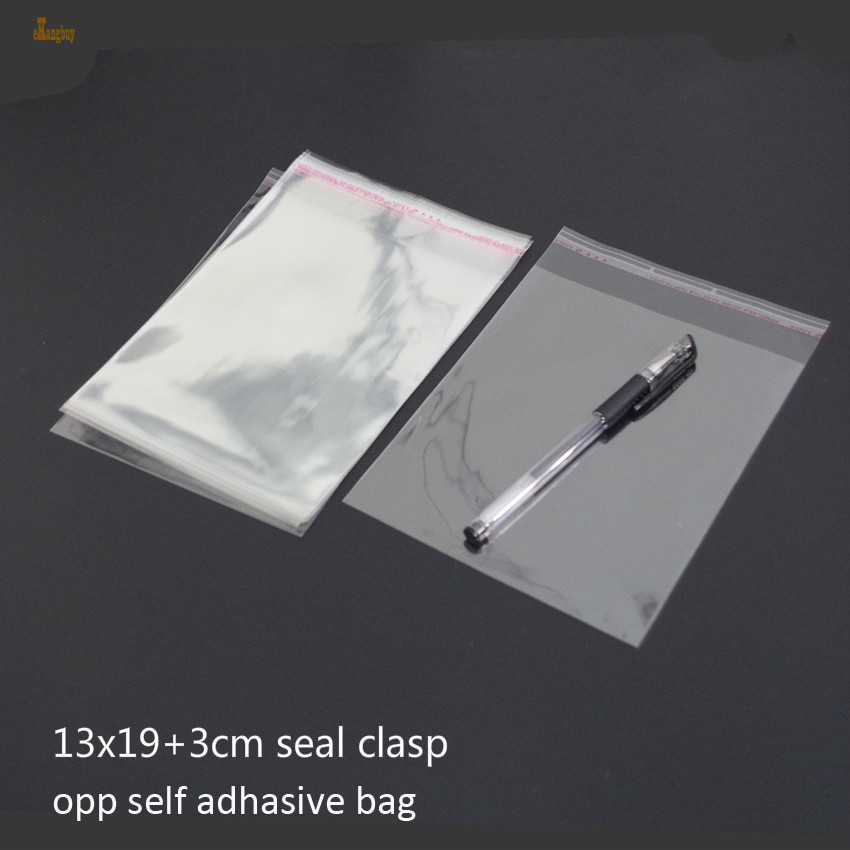 100x Lot 24*27cm OPP clear plastic bag //Clothes bag packaging self adhesive seal