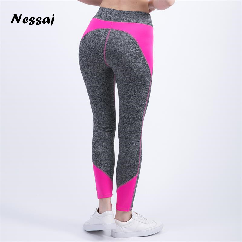 Nessaj Female High Waist  Fitness Pants Legging Workout Activity Leggings Bodybuilding Clothes Body Shapers Women Leggings