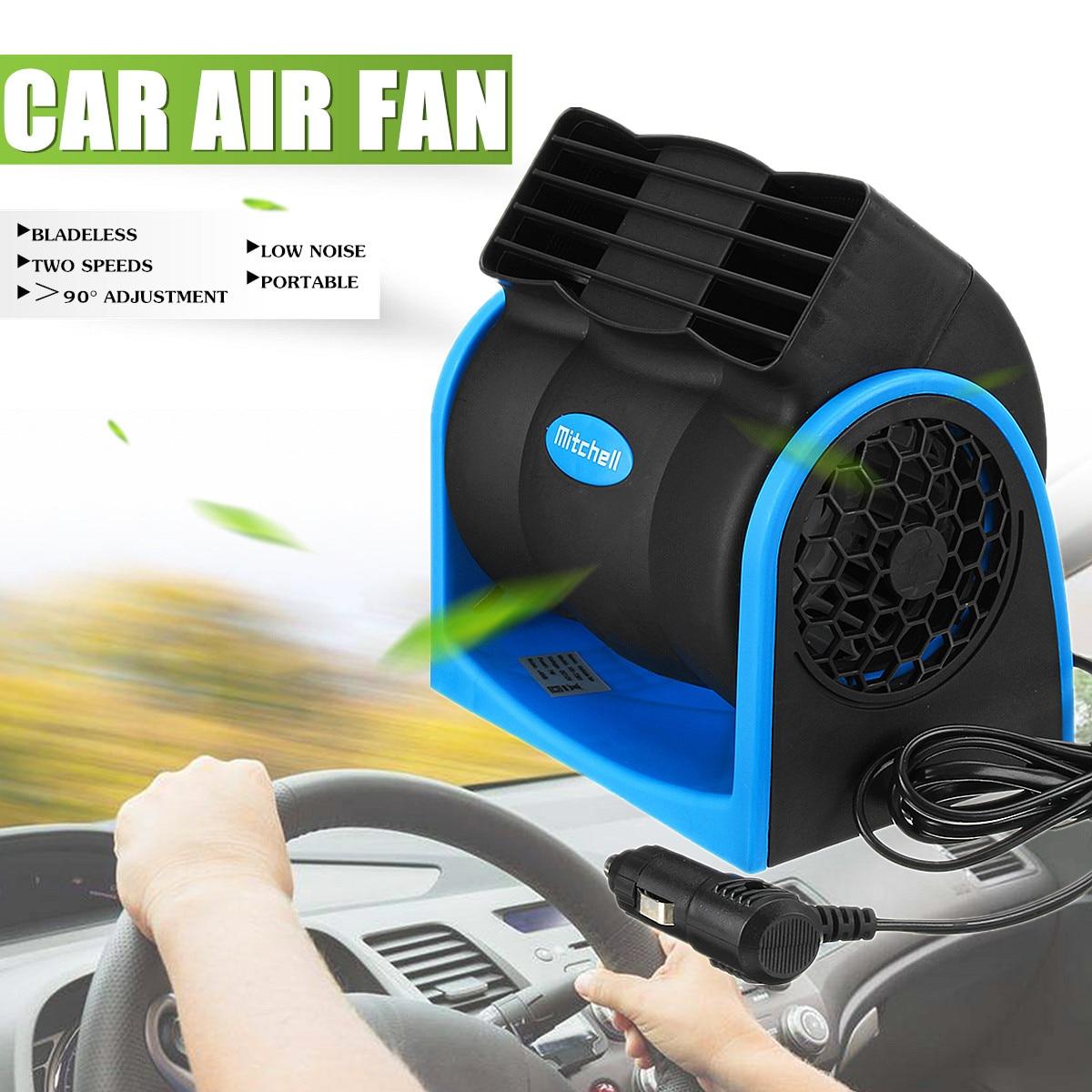 Fans Haushaltsgeräte Stumm Blattlosen Klimaanlage Fan Universal Auto Elektrische Fan Verstellbare Fahrzeug Turbofan Auto Kühler Für Baby Geräuscharm