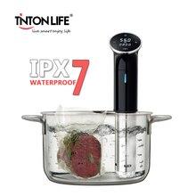 TINTON жизни Sous Vide вакуум еда медленно плита IPX 7 Watrerproof 1200 Вт погружной Термостат ЖК дисплей цифровой дисплей Нержавеющая сталь