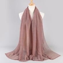 Muslim head scarf bandana stretch gold silk high fashion scarfs women headscarf hijab accessories