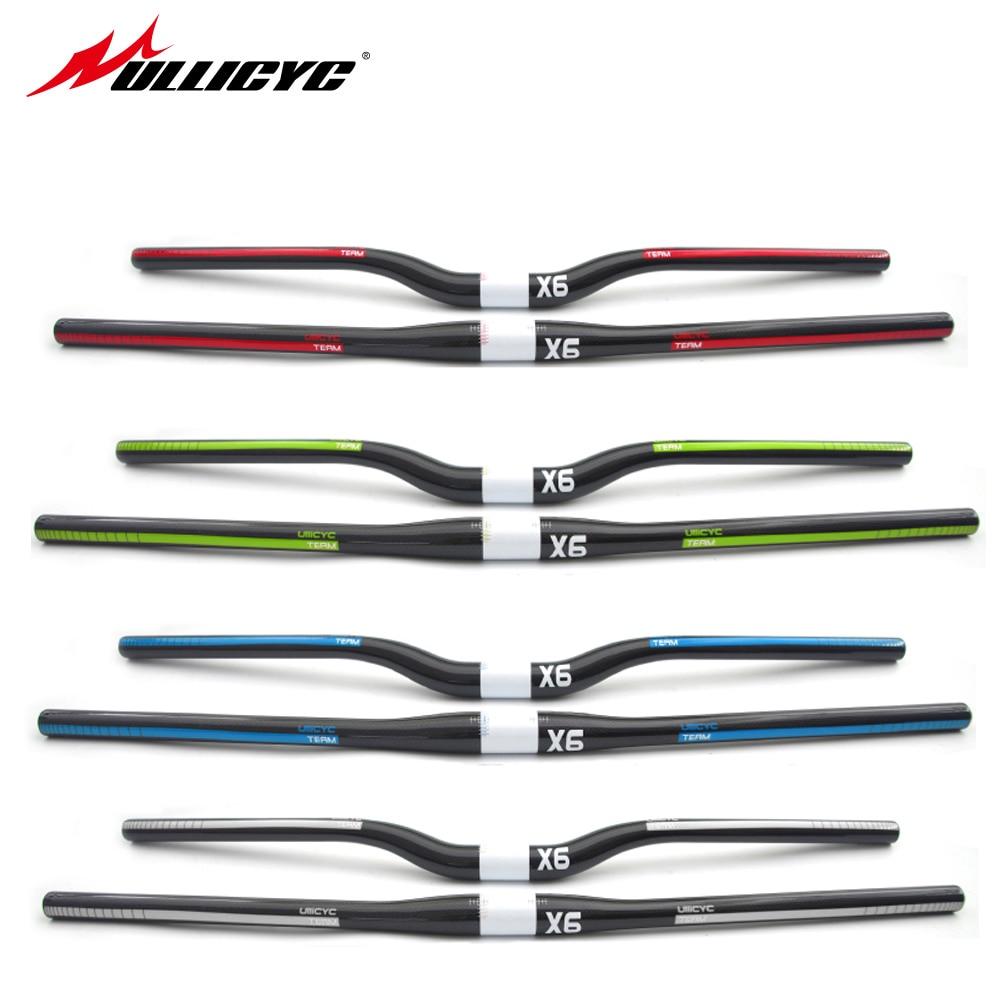 EC90 Carbon MTB Bike Curve Riser//Flat Handlebar UD Matte 600-760mm Longest