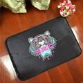 Mats antideslizante estera de la historieta animal marea tigre de serie de la marca impresa patrón de alfombras tapetes para baño puerta de la sala