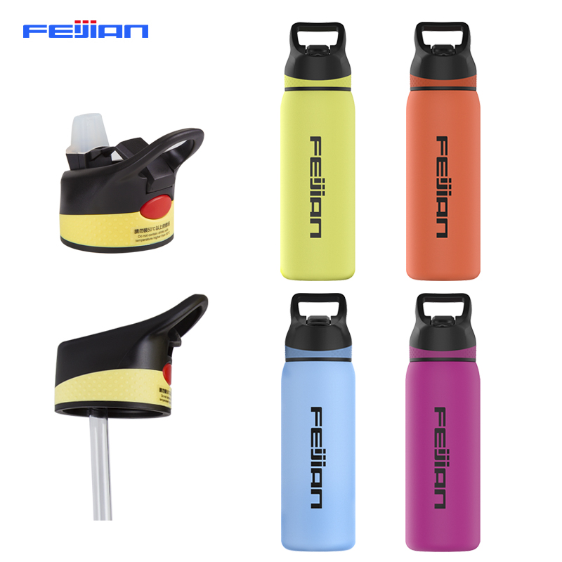 FEIJIAN Thermos Bottle with Straw Lid Wide Mouth Vacuum Insulated Double Wall 18/8 Stainless Steel Powder Coated BPA FreeFEIJIAN Thermos Bottle with Straw Lid Wide Mouth Vacuum Insulated Double Wall 18/8 Stainless Steel Powder Coated BPA Free