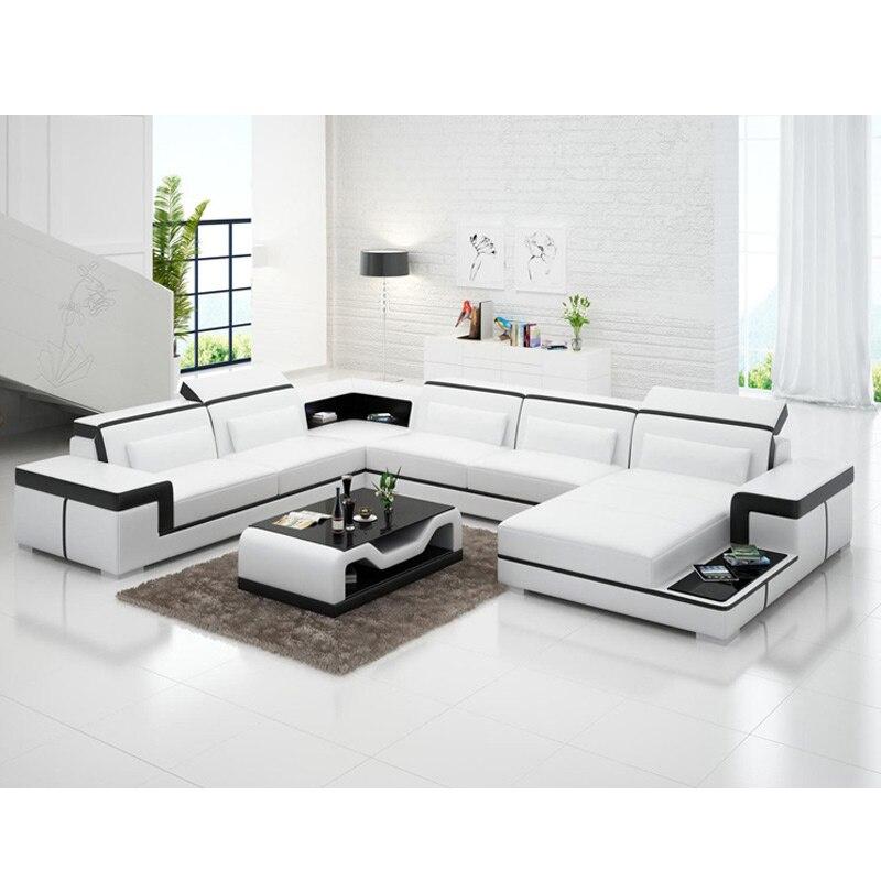 Modern Furniture High Quality Corner Shaped Genuine