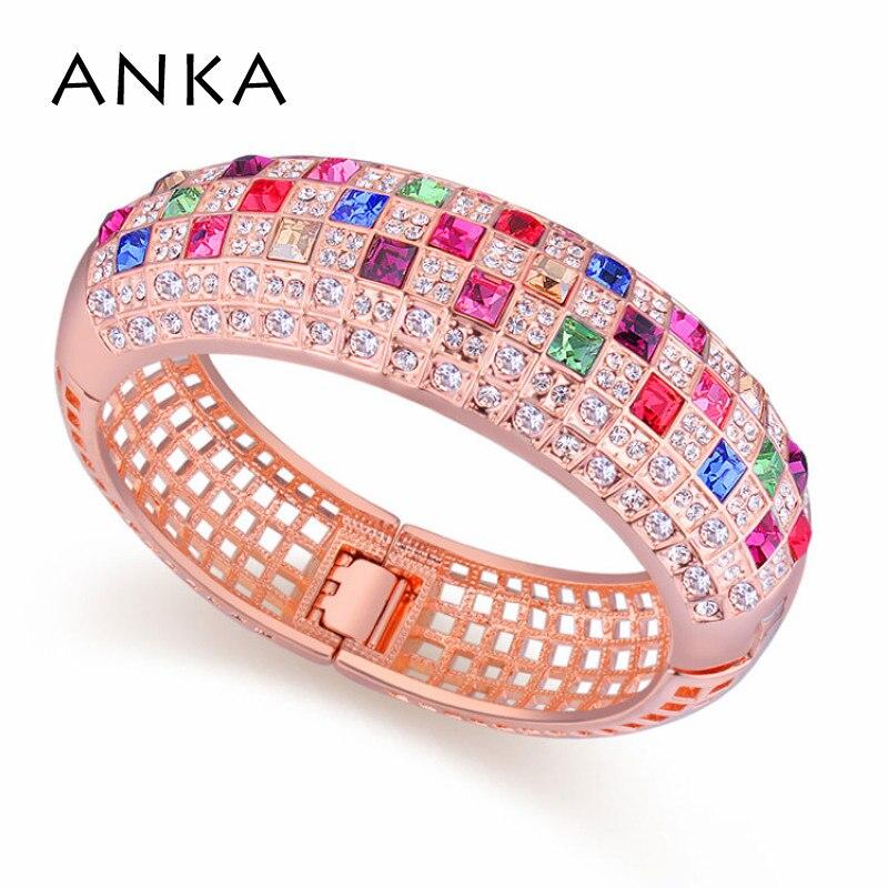 ANKA ruée vente indien bijoux bracelets pour femme Crossfit cristaux d'autriche femmes Bracelet manchette #85435