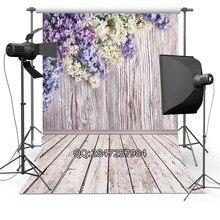 Тонкий Винил фотографии фон Настроить весенние цветы Фонов Цифровая Печать Фон для фотостудии F-2341
