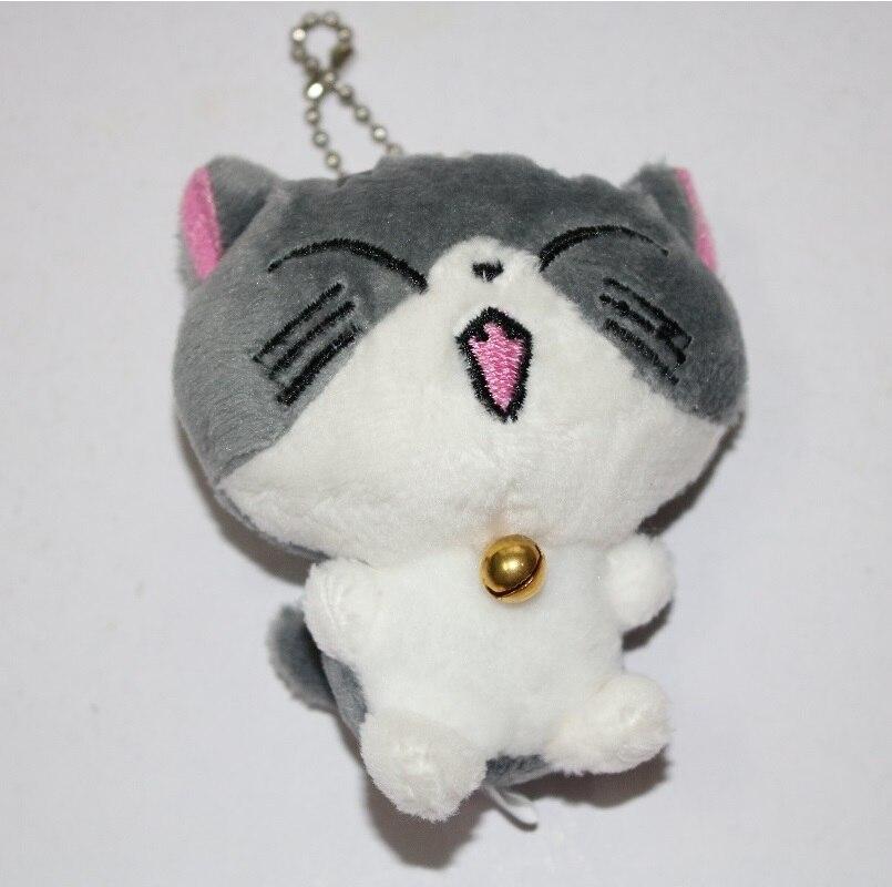 Kawaii серый сидя 9 см кошка плюшевые мягкие игрушки, букет подарок мягкая плюшевая кошка кукла, брелок с котом плюшевая игрушка цветок кошка кукла подарок - Цвет: H 5cm