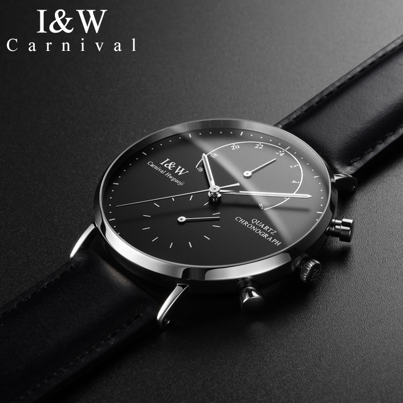 2019 CARNIVAL watch men Luxury Brand Sport watch waterproof Scratch-resistant wristwatch mens Leather Mens Quartz Watch relogio2019 CARNIVAL watch men Luxury Brand Sport watch waterproof Scratch-resistant wristwatch mens Leather Mens Quartz Watch relogio