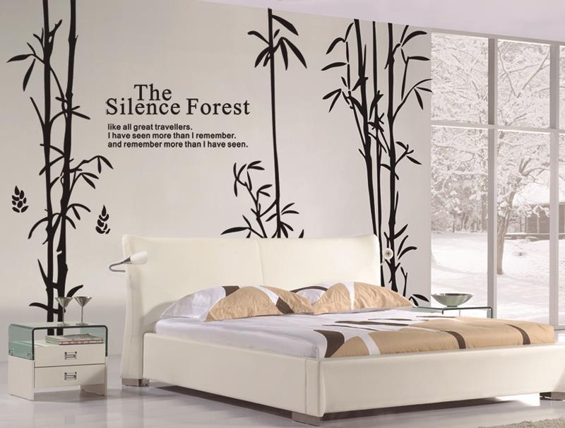 Autocollants muraux en bambou décor à la maison salon Adesivos De Parede arbre Stickers muraux Vinilos Decorativos Para dortoirs Muursticker
