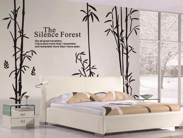 Bamboo Wall Stickers Home Decor Living Room Adesivos De Parede Tree ...