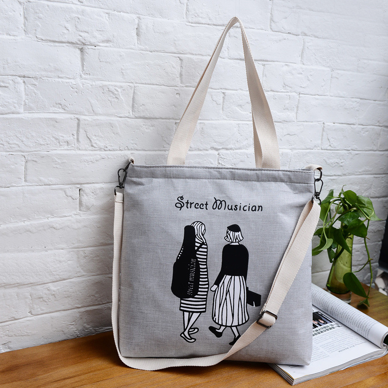 2019 Fashion Personality Print Canvas Bag Large Capacity Casual Shoulder Bags Designer Women Large Shopping Handbag Zipper Tote2019 Fashion Personality Print Canvas Bag Large Capacity Casual Shoulder Bags Designer Women Large Shopping Handbag Zipper Tote