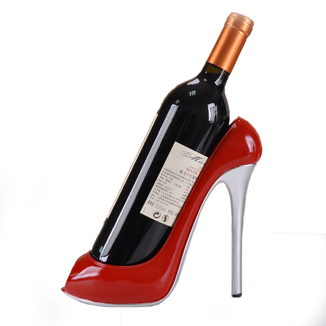 Wine Accessories Artesanato High-Heeled Shoes Resin Bottle Wine Stand Holder  Rack Ornament Shelf Tray for Party Restaurant Gift 5b4a2550edf7
