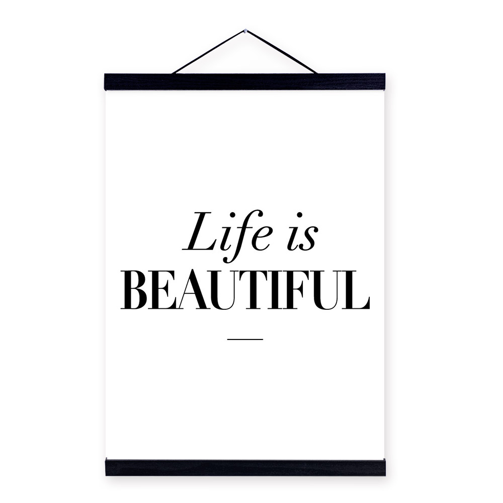 Life Quote Poster Minimalist Beautiful Life Inspiration Quotes Big Art Print Poster