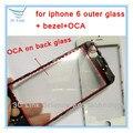 10/20 pcs original outer lente de vidro com moldura com oca em conjunto para o iphone 5 5S 6 6G 4.7 ''LCD Frontal Outer Lente de Vidro navio livre