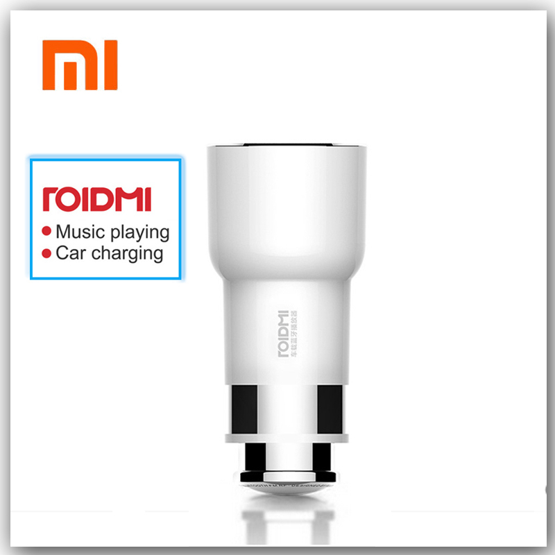 D'origine Xiaomi ROIDMI 2 Bluetooth à FM Convertisseur Chargeur Allume Avec Lecteur de Musique Haut-Parleur De Voiture Double USB Pour Téléphone Mobile Xiaomi