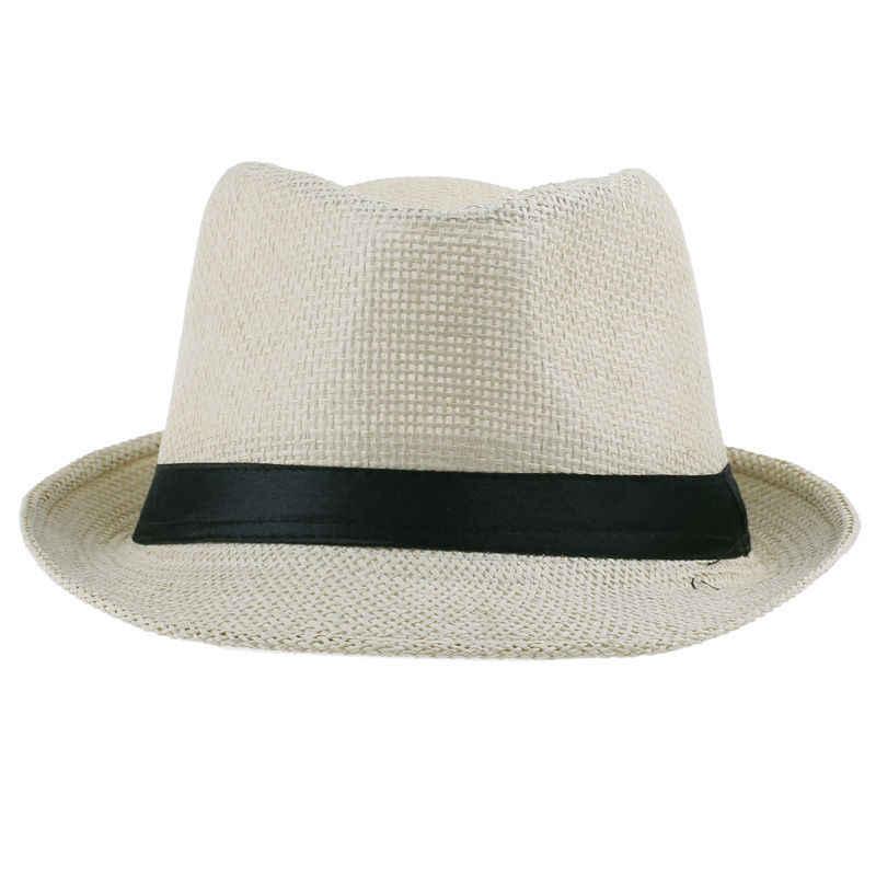 7edfb987dd2 ... LNPBD Hot Unisex Women Men Fashion Summer Casual Trendy Beach Sun Straw  Panama Jazz Hat Cowboy ...
