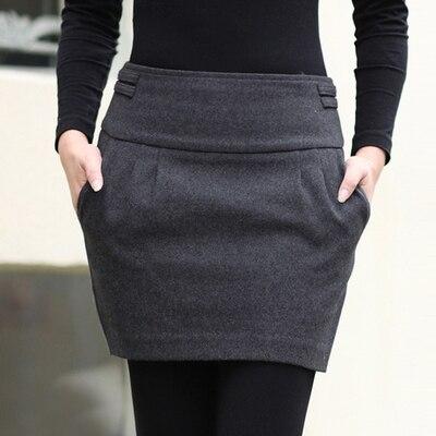 7c923a8ab Caliente 2015 de otoño / invierno de la falda mujeres moda marca Design  Plus tamaño de lana delgado brote cadera bolsillo con cremallera corta Mini  faldas ...