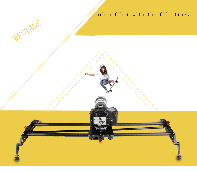 32in/80cm Photo Track Carbon Fiber Camera Video Stabilizer Rail Dolly Slider with Follow Focus Pan for DSLR 5D 6D Camcorder ashanks 60cm 4 bearings camera slider track carbon fiber dv camera video stabilizer rail track slider for dslr or camcorder