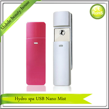 USB Rechargeable 9ML Big Water Tank Facial Beauty Ion Nano Handy Mist Spray Face Sauna Steamer