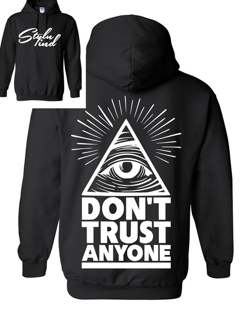 6d8c1410955e Illuminati All-Seeing Eye Prism Symbolism Hoodie Dont Trust Anyone NWO  SAINT Triangle S-3XL