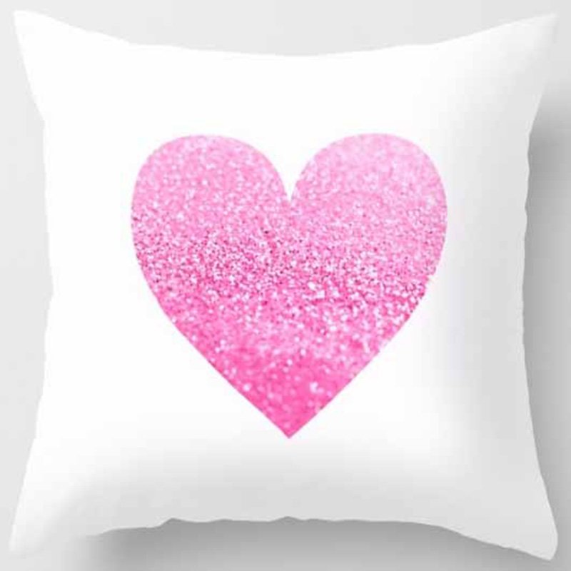 Hot sale different colors love heart shape and elephants double patterns Pillow cases square pillow cover size 45 45cm in Pillow Case from Home Garden