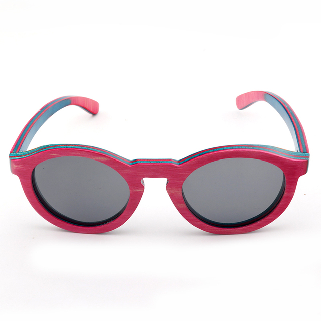 BOBO OISEAU Marque D origine En Bois lunettes de Soleil Femmes Avec Rose et  coloré 6be9e079ddd6