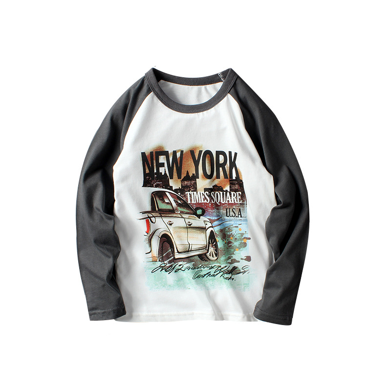 VIDMID New Children Boy Clothes long sleeve Tees Boys T-shirt Casual Cotton Letters Patchwork Striped Kids t-shirts tees 4102 23 3