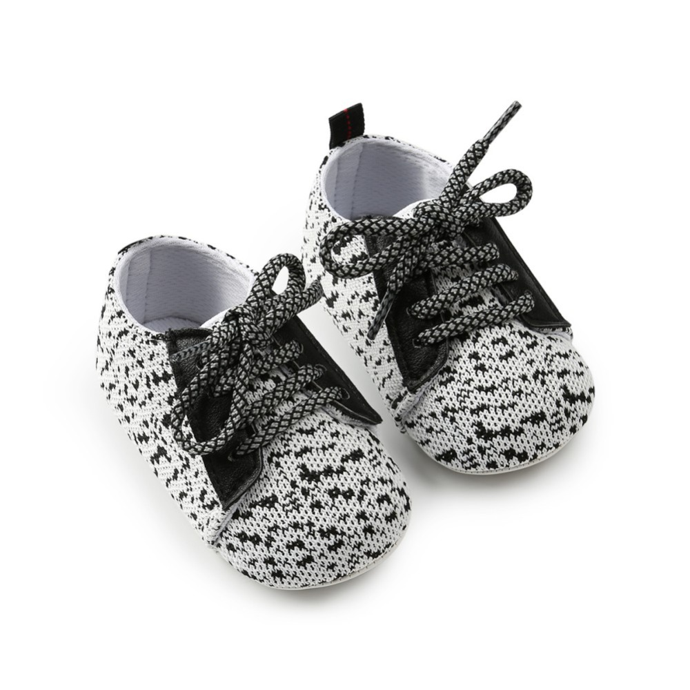 Baby Girl Boy Shoes Spring&Autumn Cotton Fabric First Walker Lace-up Casual Infant Toddler Girl Crib Shoe 0-18M