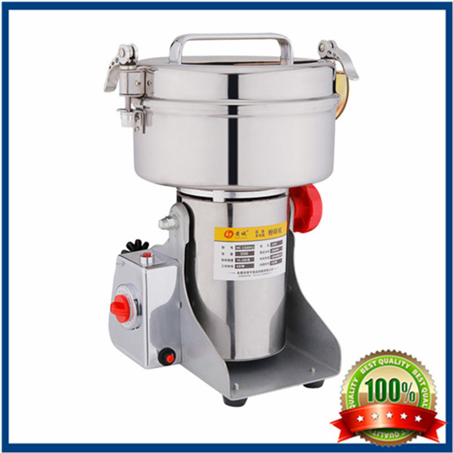 Moinho de pimenta electric 2000g Swing type Food grinder Stainless steel Chinese medicine mill ultrafine powder Milling machineMoinho de pimenta electric 2000g Swing type Food grinder Stainless steel Chinese medicine mill ultrafine powder Milling machine