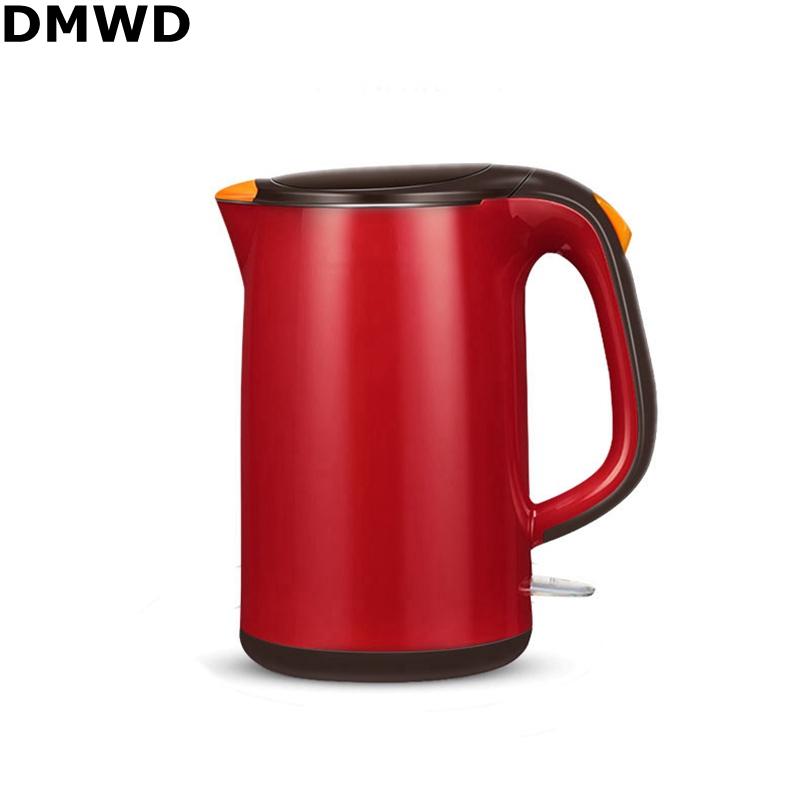 DMWD 220V/50Hz/1800W 1.7L Underpan Heating Heat Insulation Electric Kettle Food Grade Stainless Steel Fast Boiling Electic Pot electric kettle boiling pot food grade 304 stainless steel 1 5 l fashion product
