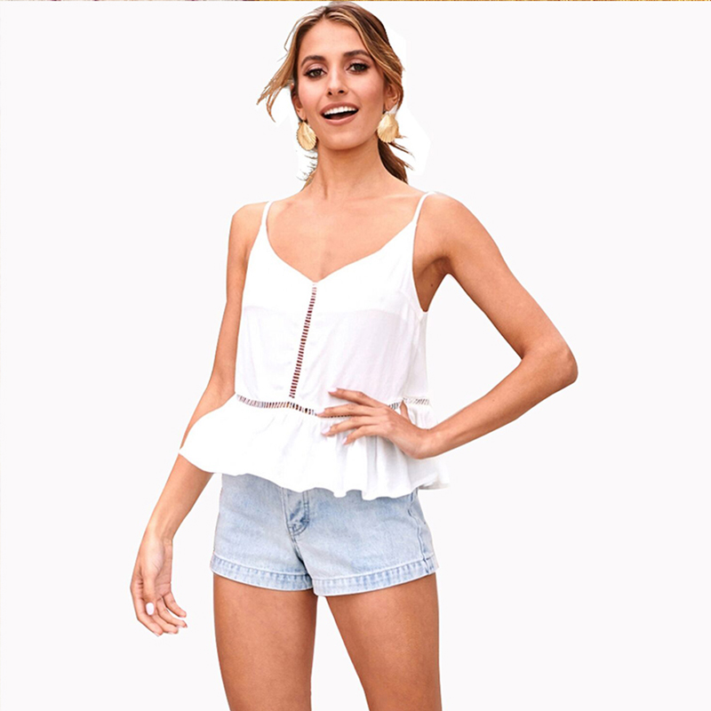 Casual woman soft top women sexy short cropped tops backless for ladies girls solid color bowknot white red colors 81931 in Camis from Women 39 s Clothing