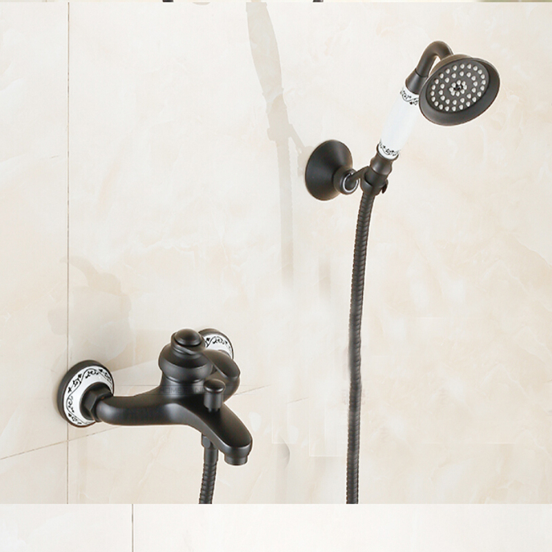 NEW Bathroom Tub Faucet One Handle Hand Shower Mixer Tap Oil Rubbed Bronze