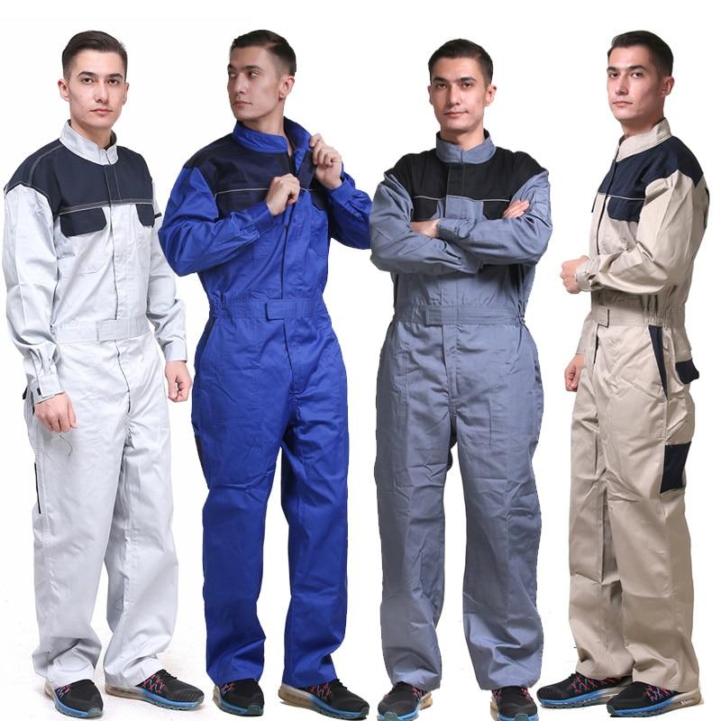 Mechanic Carpener Workwear coveralls blue work clothes for men long sleeve repairman jumpsuit Mechanic Carpener Workwear coveralls blue work clothes for men long sleeve repairman jumpsuit