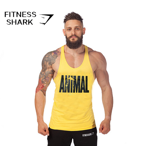 00f33461cde5c 2015 Animal MARCAS Sport summer style camisetas de tirantes hombre  Bodybuilding and fitness Rag tops gym gymshark singlet men s
