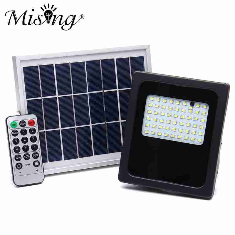 Mising 54 LED Solar Light 3528 SMD Radar Motion Sensor Outdoor Lighting Floodlight Waterproof Garden Path Security Lamp