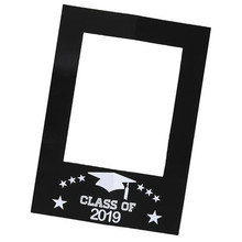 New Class of 2019 Graduation Photo Props DIY Paper Picture Frame Cutouts Photo Booth Props for Graduation Event Party Decoration class photo