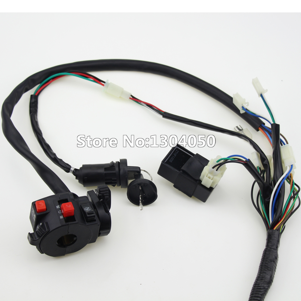 hight resolution of buggy wiring harness loom gy6 cdi electric start stator 8 coil c7hsa spark plug switch engine 150cc quad atv go kart kandi dazon in motorbike ingition from