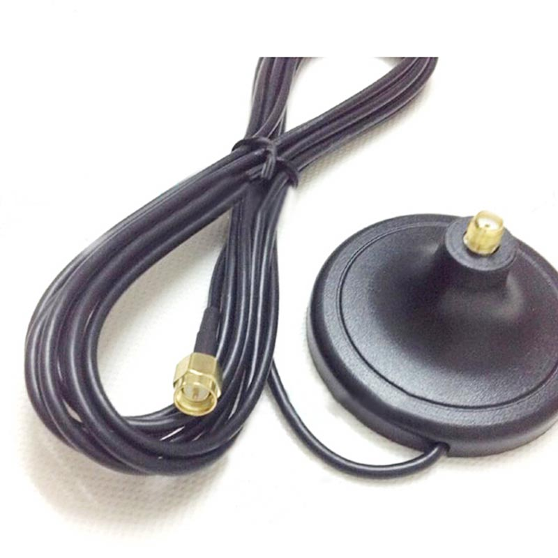 imágenes para 3G 4G WiFi Antena base base magnética SMA macho Cable adaptador de conector RG174 cable de Extensión 3 M SMA Hembra Conector Base #2